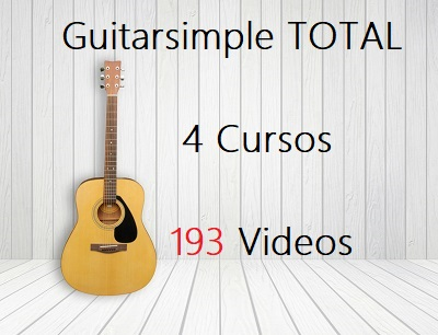 4 cursos de guitarra con 193 videos