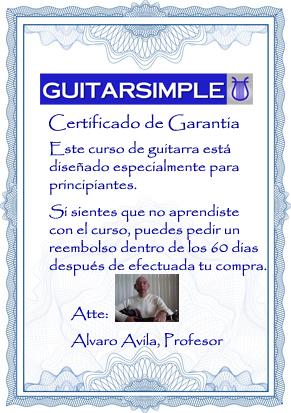 60 dias certificado garantia GUITARSIMPLE